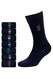 7 Pairs of Cotton Rich Freshfeet™ Argyle Socks with Silver Technology