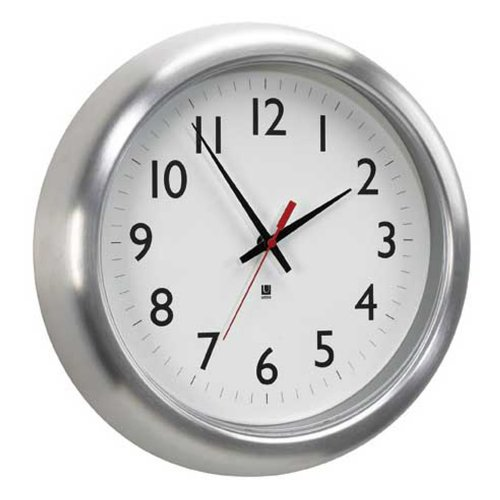 Umbra Station Aluminum Wall Clock