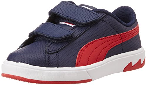 Puma Boy's Archive Lite Lo 2 L V Kids Peacoat and High Risk Red Sneakers - 11 UK  available at amazon for Rs.1979
