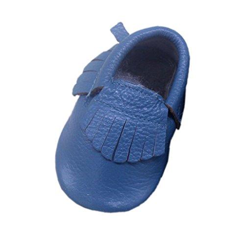 (コ-ランド) Co-land ベビーシューズ 赤ちゃん靴 ファーストシューズ 新生児靴 男の子 女の子 フリンジ飾り フォーマル 男女児 子供練習用 歩行靴 出産祝い ネイビー 13cm