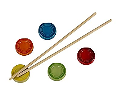 Le Creuset of America Stoneware Chopstick Rest Set, Multi-Colored, Set of 5