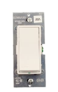 Leviton VP0SR-1LZ, Vizia + Digital Matching Remote Switch, 3-Way or more applications, White/Ivory/Light Almond