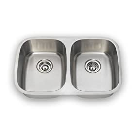Undermount Equal Double Bowl Stainless Steel Kichen Sink