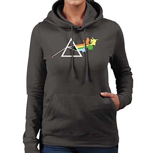 Pokemon Pink Floyd Dark Side Of The Pokeball Moon Women's Hooded Sweatshirt