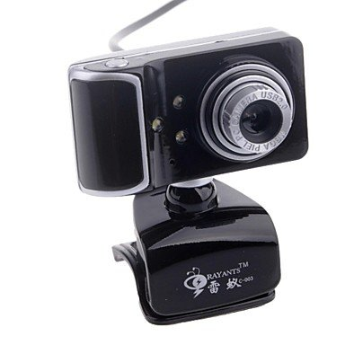Zcl Rayants C-003 8.0Mp Hd Webcam With Night Vision Light / Micphone , Silver
