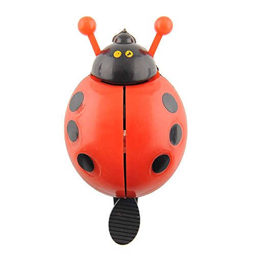{Factory Direct Sale} Bicycle Road Moutain Bike Cycling Mtb Handle Bar Handlebar Ladybug Ladybird Metal Alarm Ring Sound Bell Horn -- Red