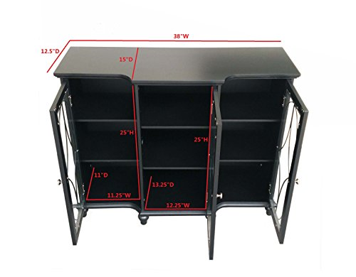 Kings Brand Furniture Wood Storage Sideboard Buffet Cabinet Console Table Black Cabinets