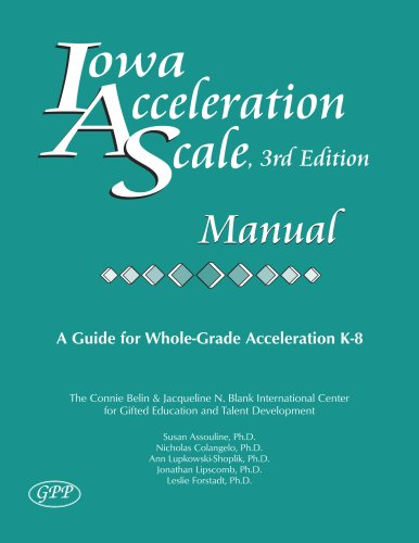 Iowa Acceleration Scale Manual 3rd Edition