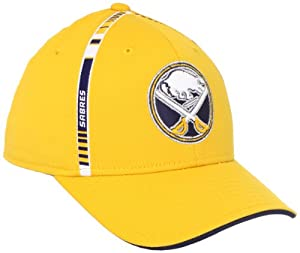 NHL Buffalo Sabres Structured Flex Fit Hat, Gold, S/M