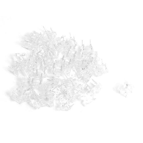 40 Pcs 3Mm Top Round Head White Piranha Flux Led Light Diodes