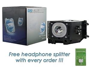 Samsung SP50L7HXX/XEC 120 Watt RPTV Replacement Lamp with free Headphone Splitter