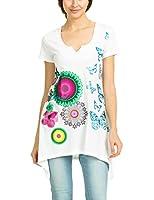 Desigual Karine - T-shirt - Imprimé - Col rond - Manches courtes - Femme