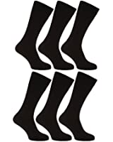 Mens XL Socks With Lycra - Sizes 11-14 (Pack Of 6)
