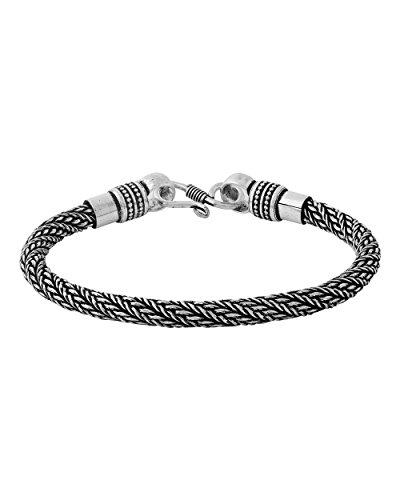 Voylla Oxidized Silver Chain Bracelet For Men 169 Rs Mrp 329