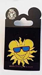 2013 Mickey Mouse Sun With Sunglasses Summer Vacation Disney Pin Trading Collectible Lapel Pin