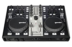 Gemini cntrl 7 contr leur dj usb table de mixage avec - Table de mixage avec carte son integree ...