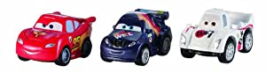 Cars Micro Drifters Lightning McQueen, Shu Todoroki and Max Schnell Vehicle 3-Pack