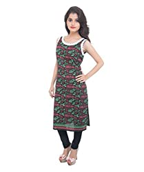 Lal Chhadi Women's Cotton 3/4 Sleeve word Printed Kurta