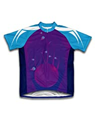 Purple Twist Short Sleeve Cycling Jersey for Women