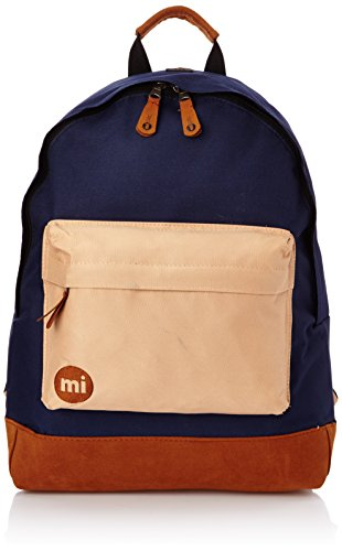 Mi-Pac - Zaino bicolore, Blu (Navy/Light Brown), Taglia unica