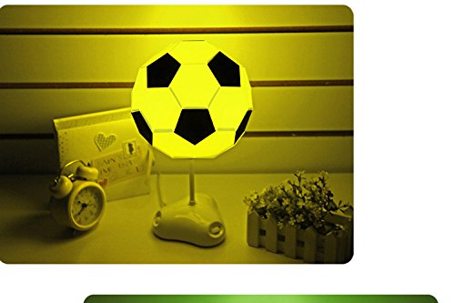 DIY USB Football Lamp Handmade Night Light Desk Lamp Colorful Bedside Lamp