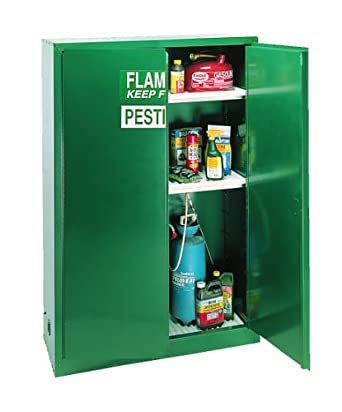 Eagle Pesticide Safety Cabinet, 2 Manual Doors, Steel, Green