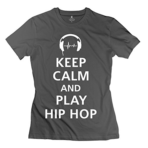 Enocho Women'S Keep Calm Play Hip Hop T-Shirt - M Deepheather