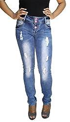 BK Black Women's Jeans (LDNRS1532903_Light Blue_36)