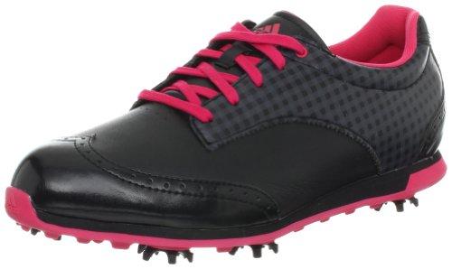 Adidas Driver Grace Donna Pelle Scarpe ginnastica Taglia, Black/Black/Fresh Pink, US10.5|UK9|EU43 1/3