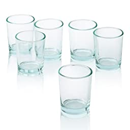 Clear Glass Votive Candle Holders (Set of 24)