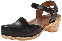 Dansko Women\'s Maisie Dress Sandal, Black Full Grain, 38 EU/7.5-8 M US