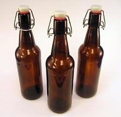 CASE OF 12 - 32 oz. EZ Cap Beer Bottles - AMBER - VINTAGE STYLE - HOME BREWING