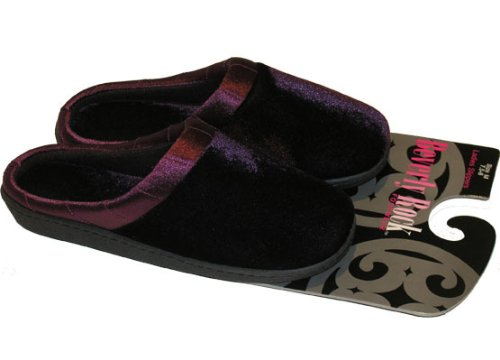 Cheap Ladies Slippers Velvet with Satin Trim – Case Pack 36 SKU-PAS777780 (B008GNYLE4)
