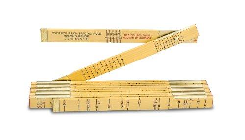 Lufkin 656 6-Feet by 5/8-Inch Brick Mason Wood Rule Red End