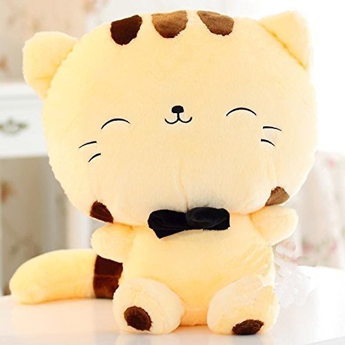 OrangeTag 18 46CM Tail Cute Plush Stuffed Toys Cushion Fortune Cat Doll (Yellow Color) (Tamaño: 18 inches)