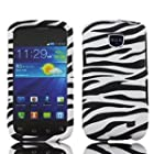 Samsung Zebra Design Faceplate Hard Phone Case Cover for Straight Talk Samsung Galaxy Proclaim 720C SCH-S720C