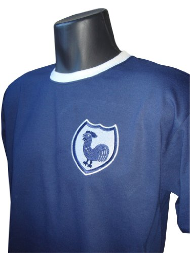 Retro Tottenham Hotspurs 1940s Away Football T Shirt New Sizes S-XXL Embroidered Logo