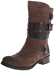 Luxury Rebel Women's Lana Slouch Boot,Khaki/Black,5.5 M US