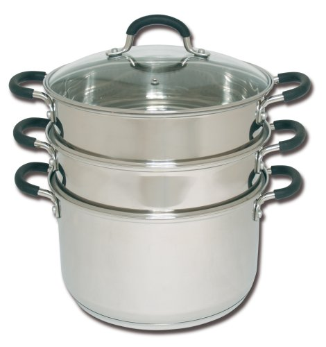 Joyce Chen 26-0054, 6-Quart 3-Tier Chinese Steamer