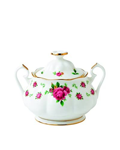 Royal Albert New Country Roses Vintage 11.8-Oz. Covered Sugar, White