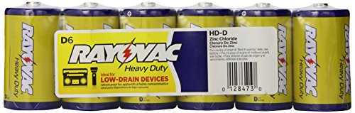 "Rayovac Industrial Heavy Duty ""D"" Batteries, Pack Of 6"