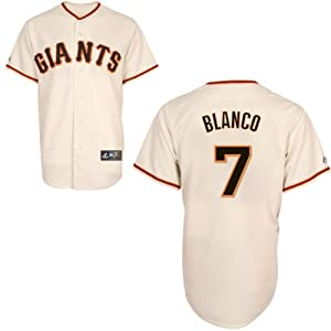 Gregor Blanco San Francisco Giants Home Replica Jersey by Majestic by Majestic