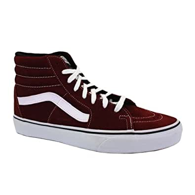 Vans Sk8-Hi TS96E0 Womens Laced Suede & Canvas Trainers Port Royal - 8