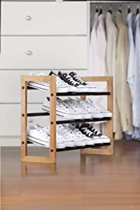 Natural Expandable Shoe Rack By Kennedy Home Collections