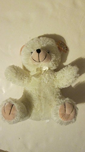 Cuddly Cousins White Bear with Bow - 12 inch