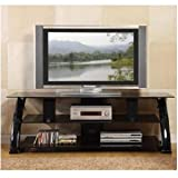 Innovex 68-Inch TV Stand, Black Marble