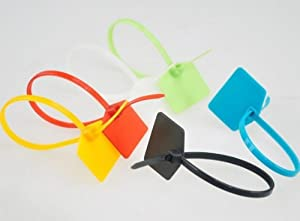 XINTE 200Pcs Colorful 120MM Plastic Self-Locking Identification Signage label Ties Cable Belting Ribbon