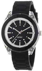 Esprit - ES900682007 - Play Mini - Montre Femme - Quartz Analogique - Cadran Noir - Bracelet Caoutchouc Noir