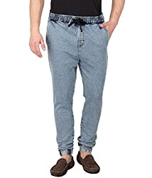 Hypernation Men's Denim Joggers (HYPM0368-30_30_Blue)