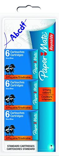 papermate-cartouches-encre-effacable-bleu-lot-de-18